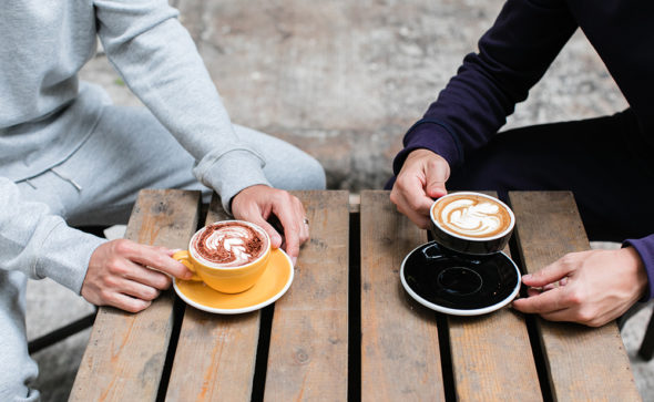Morning coffee in comfortable sweats | UNCVR men's clothing